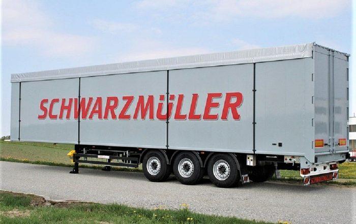 Semirimorchio Schwarzmuller con piano mobile in alluminio