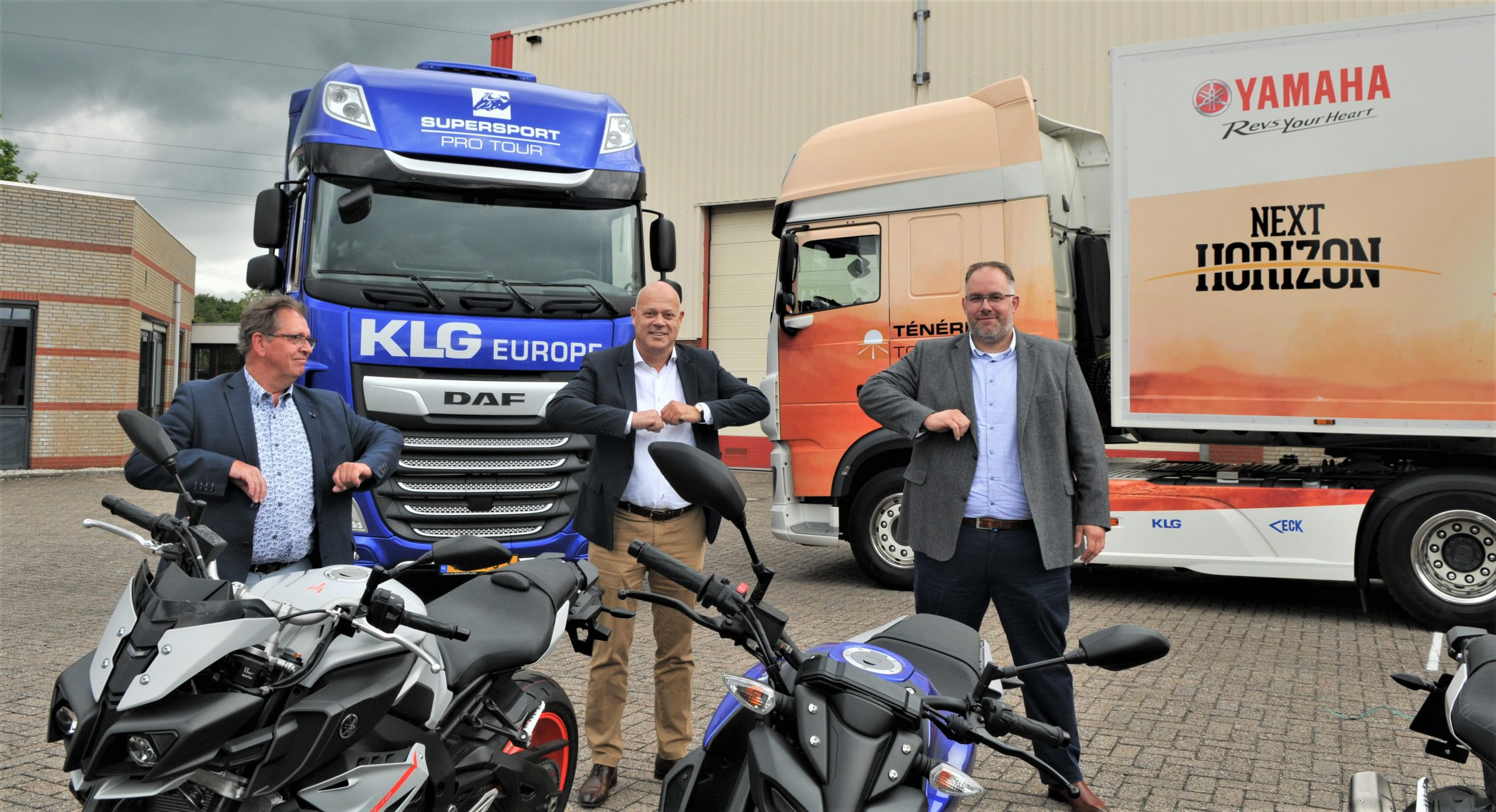 La partnershihp fra Yamaha e KLG Europe ha portato Van Eck alla fornitura dei trailer per il tour