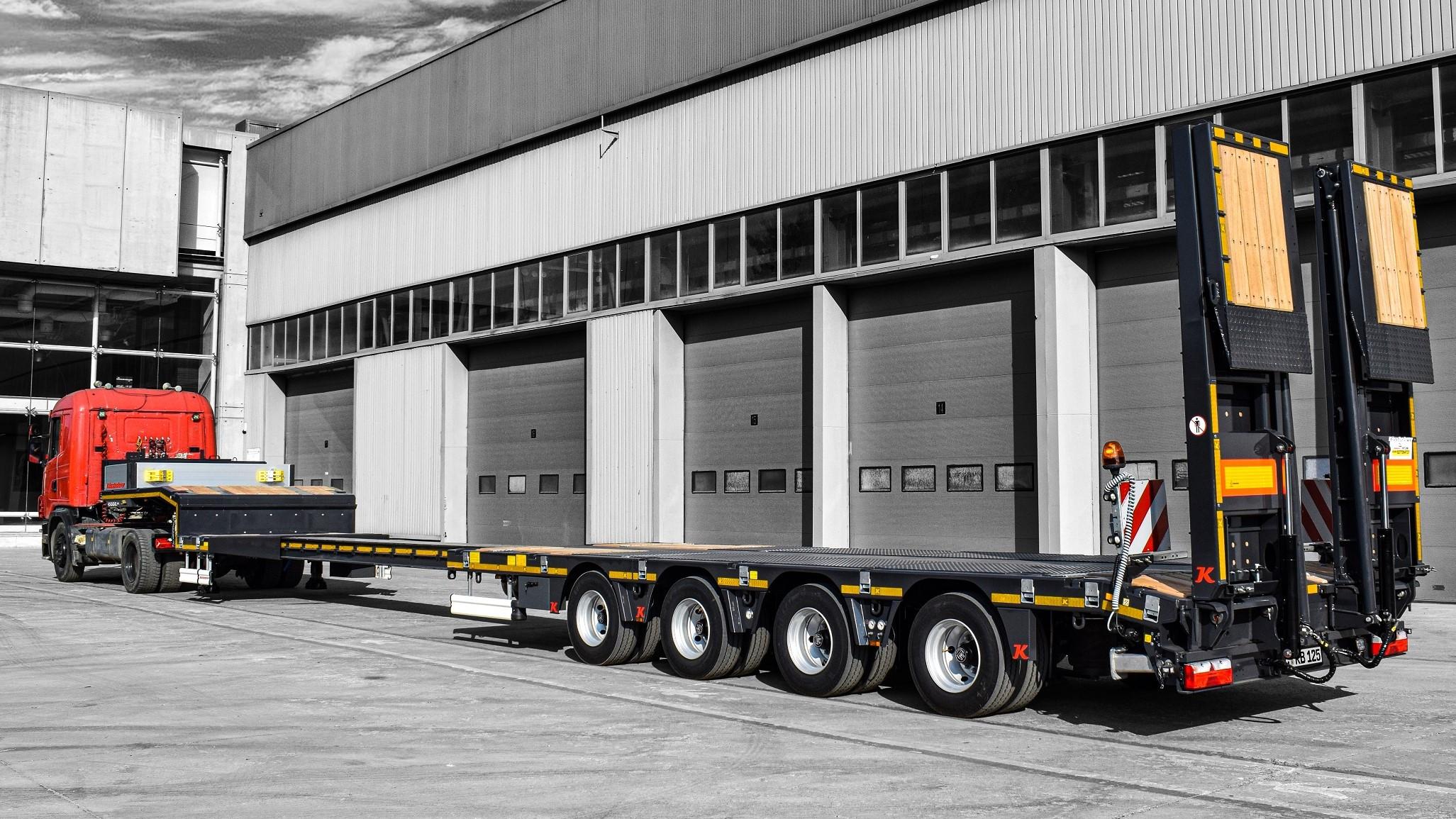 Kässbohrer si presenta con una nuova gamma di trailer per il settore construction