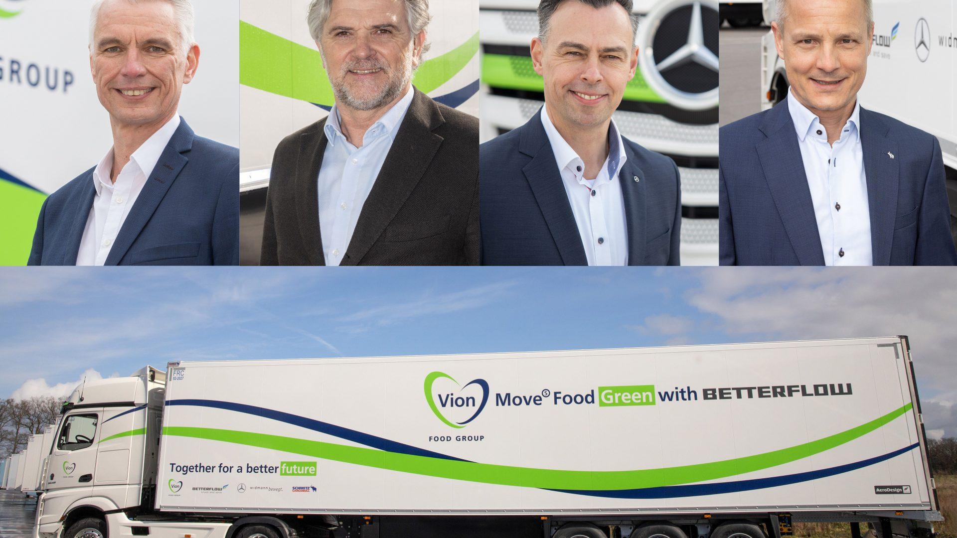 Schmitz Cargobull ha collaborato con Vion, Mercedes Benz e Betterflow per dare vita a un mezzo a basso consumo