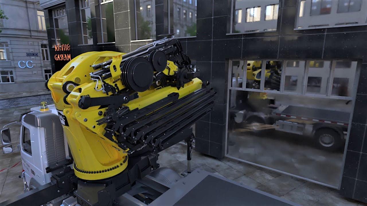 La Effer 1000 ha un peso operativo di soli 9.500 kg e viene installata su veicoli stradali