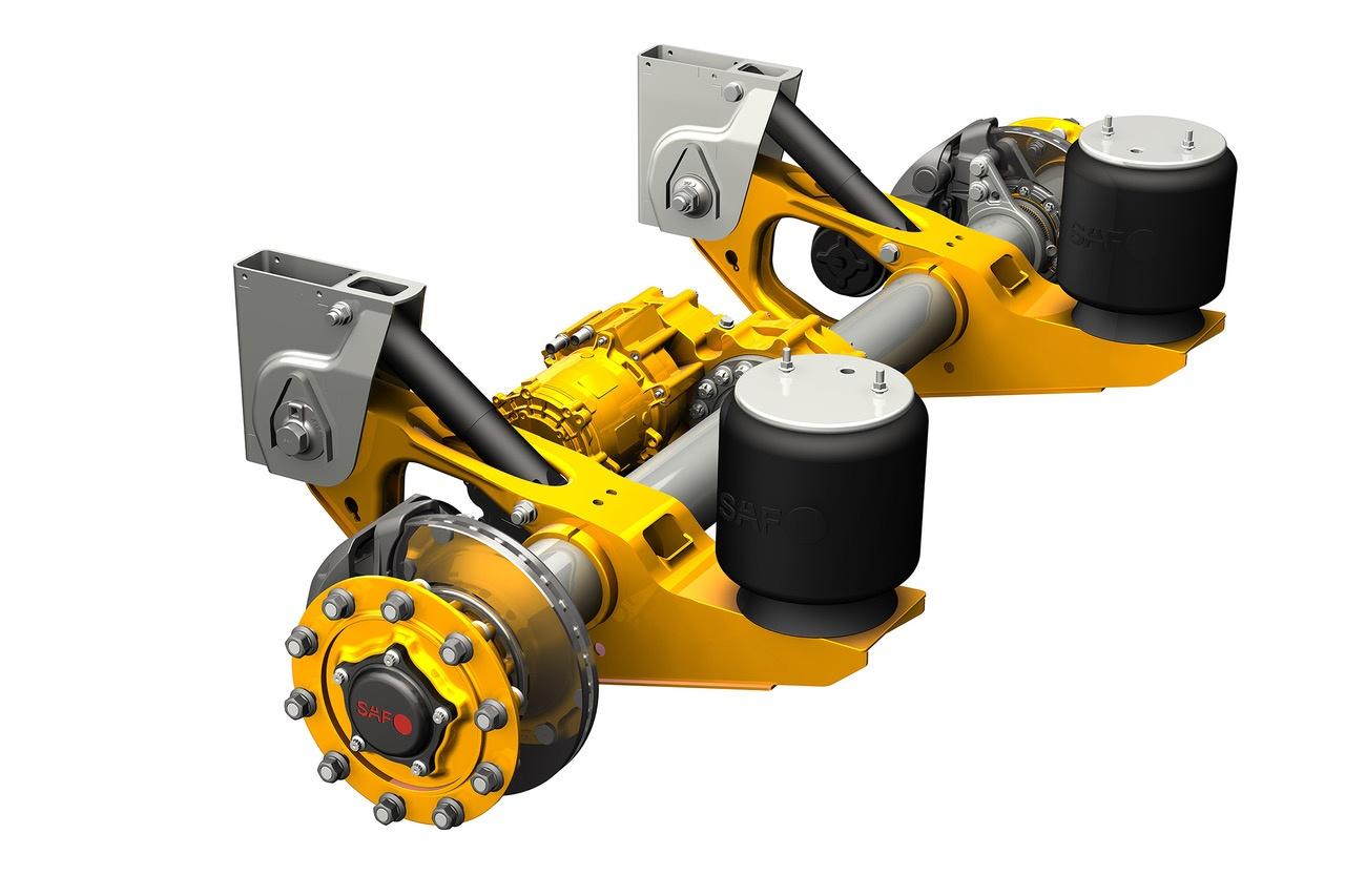 L'assale Saf Holland SAF Intra CD Trak funziona con motori idraulici Poclain Hydraulics