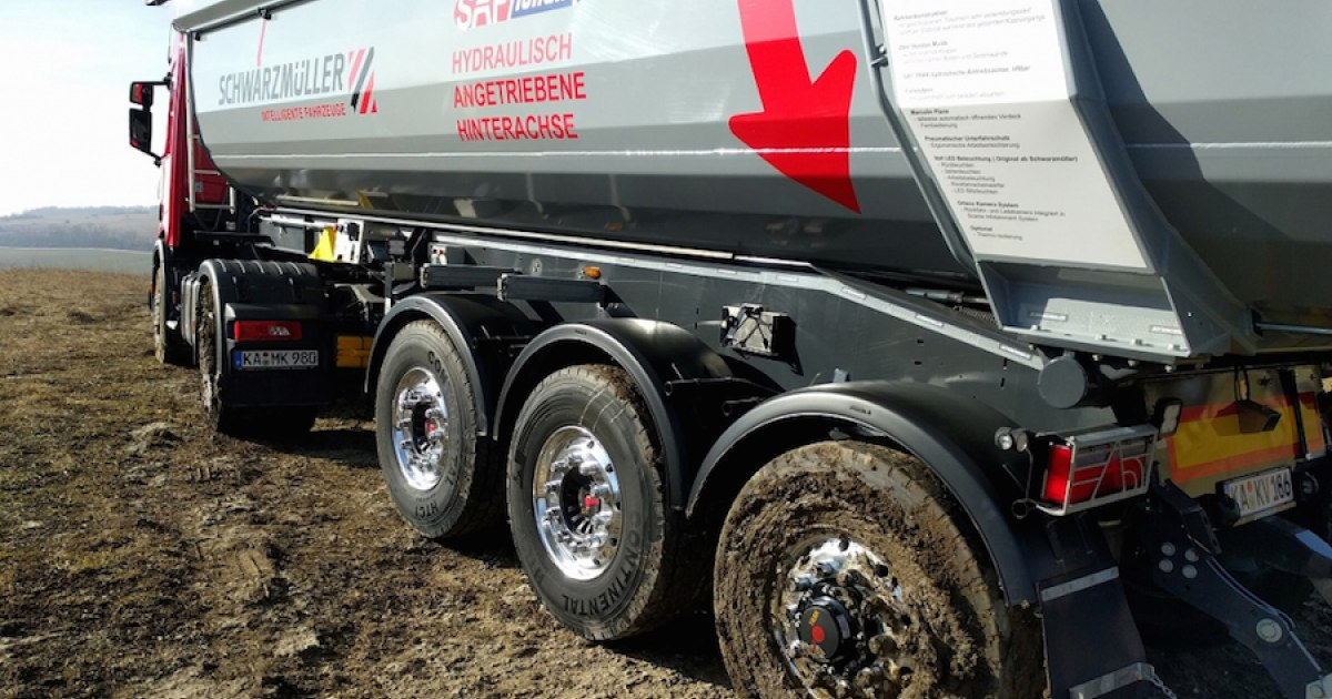 Il Saf Holland SAF Intra CD Trak è nato per il cava-cantiere